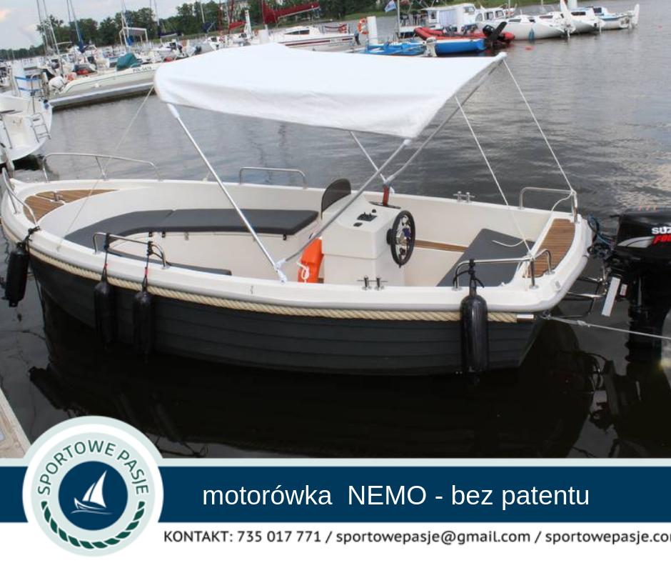 Motorówka NEMO – bez patentu